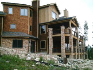 Residential stonework in Colorado